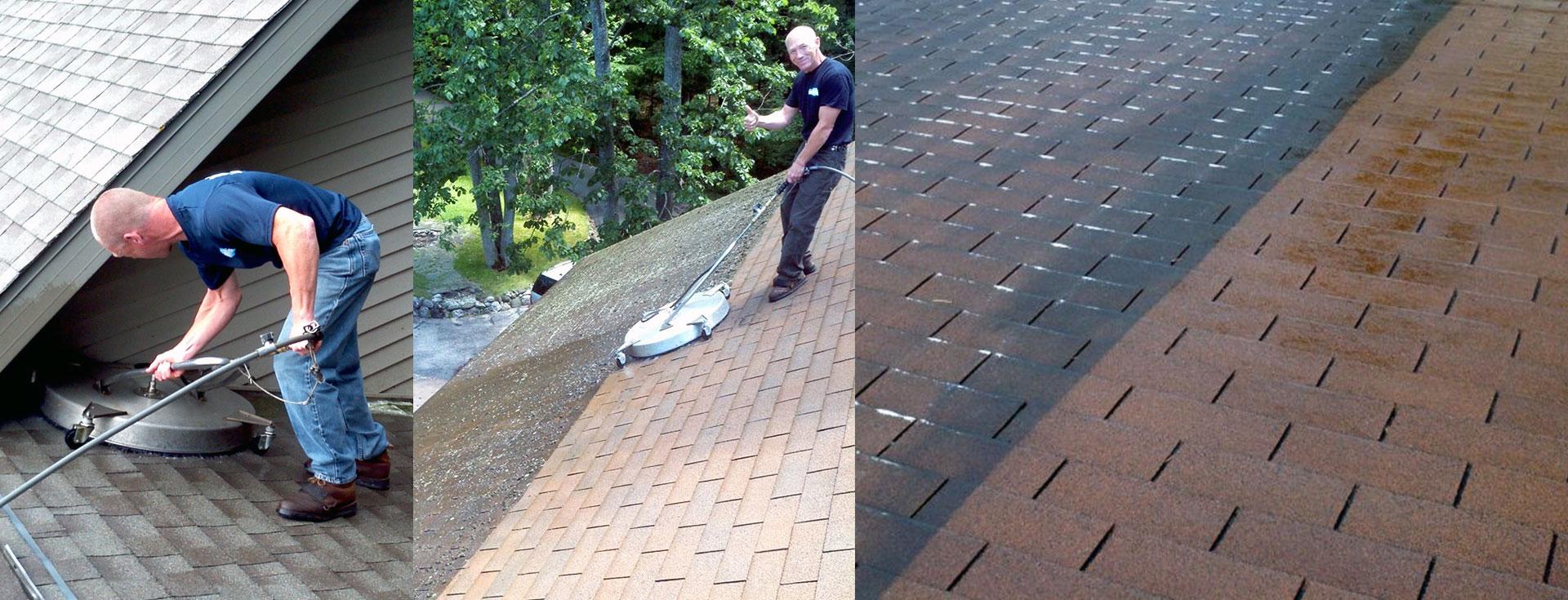 Clean and Restore dirty black roof streaks