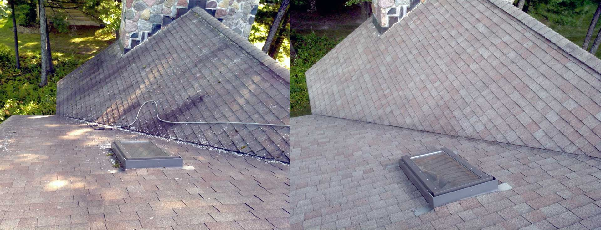 Cleaning Roof Moss