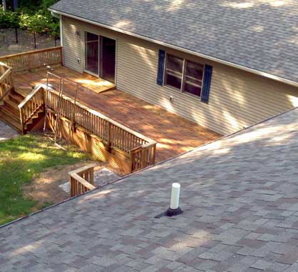 Newly cleaned roof and porch Northern Michigan