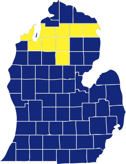 Crawford County Northern Michigan Map